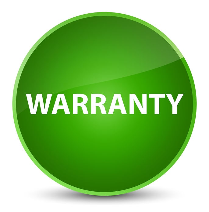 We present a picture with Warranty on the products that companies give