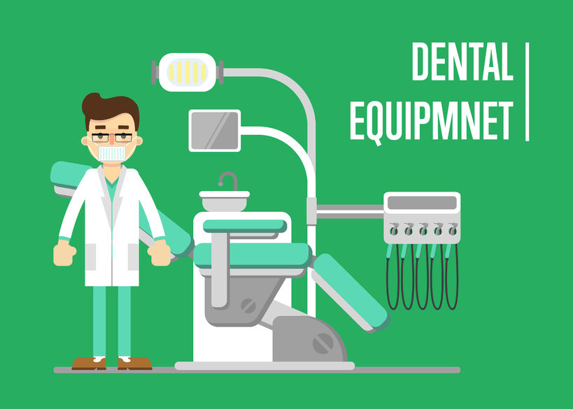 We present a graphic with a dental office and a dentist